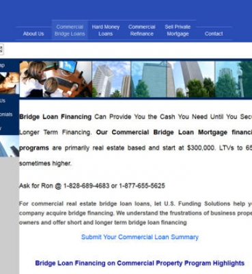 US Funding Commercial Bridge Loans